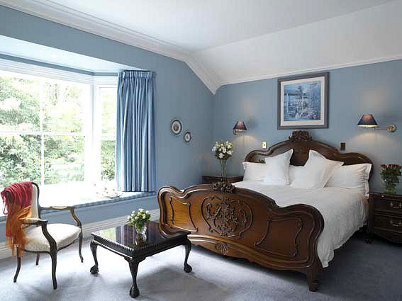 Sherwin Williams Aleutian Blue Master Bedroom