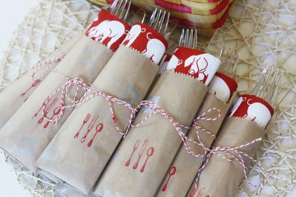 {DIY} How to Make Paper Bag Cutlery Pouches | Catch My Party