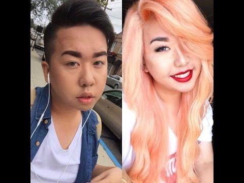 MALE TO FEMALE TRANSFORMATION|TRANSITION MAKE-UP|BOY TO GIRL MAKEOVER MAKE-UP|MTF - YouTube
