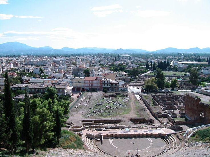 Fantastic Greece History Tuesday: The first political action of #Alcibiades was the alliance between #Athens and #Argos, that had remained neutral in the Peloponnesian War. Photo of the ancient theater and modern city of Argos, #Greece https://www.facebook.com/FantasticGreece/photos/a.341424732568850.86667.340906459287344/817961591581826/?type=1