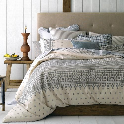 Linen House Hellenic - Bedroom Quilt Covers & Coverlets - Adairs online