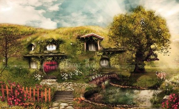 I wish I were a hobbit, so I could live here in the shire.