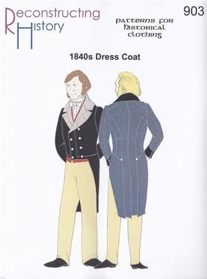 Victorian Men's Dress Coat Costume Pattern Sizes 34 54 Included Dickens Costume | eBay