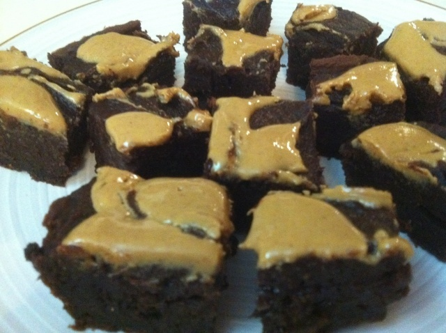 Hungry Girl Peanut Butter Fudge Brownies... 3 ingredients and 60 calories a serving :)