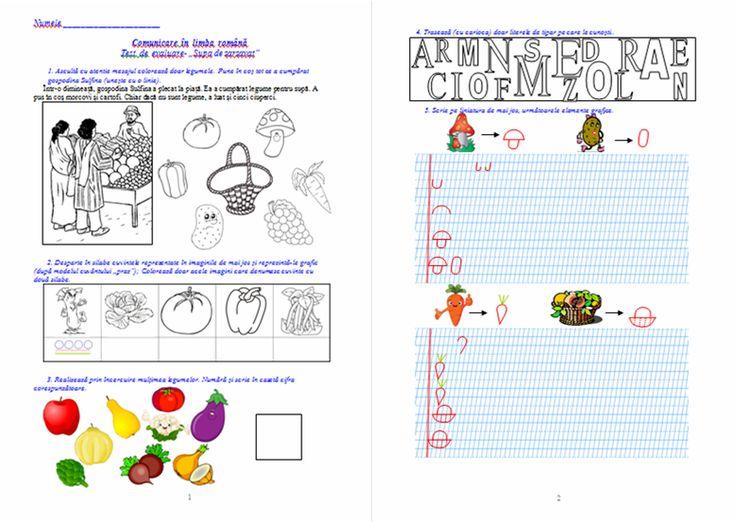 Materiale didactice de 10(zece): Fișă de evaluare - Supa de legume, clasa pregătitoare (C.L.R.)