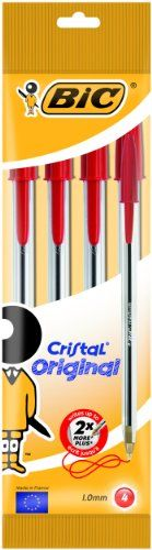 From 1.59 Bic Cristal Original Ballpoint Pens Red 4 Pack