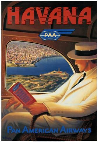 Havana | Vintage travel poster. Visit #HavanaCubanFood found in West Palm Beach, Florida! Best Cuban Food in Town!