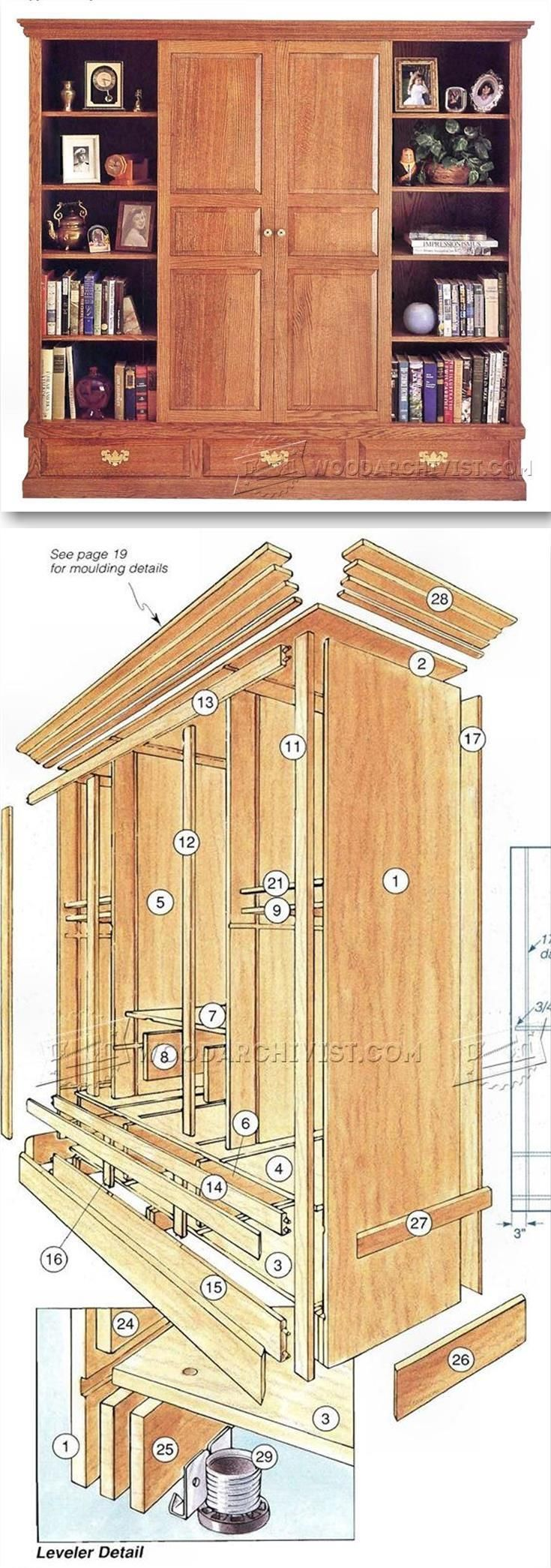 Entertainment Center Plans - Furniture Plans and Projects
