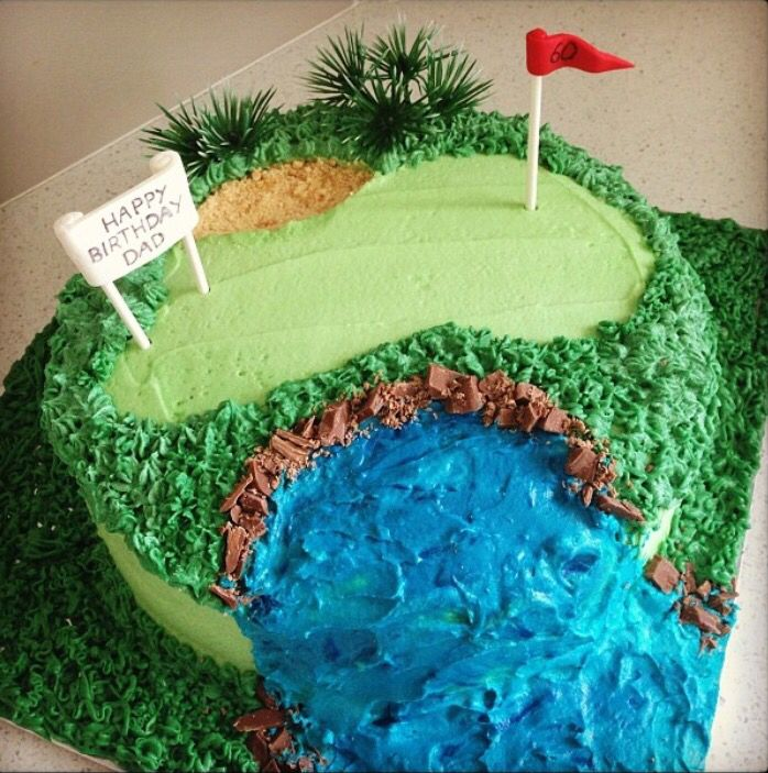 Golf inspired 60th birthday cake for my dad.