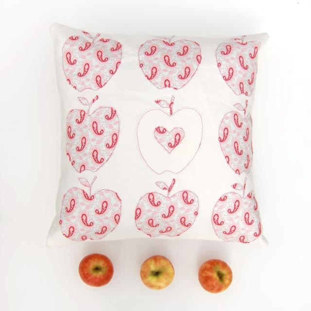 Pink Apples Cushion Cover, Linen Cushion, Fall Décor. £40.00, by Free Spirit Designs On Etsy.
