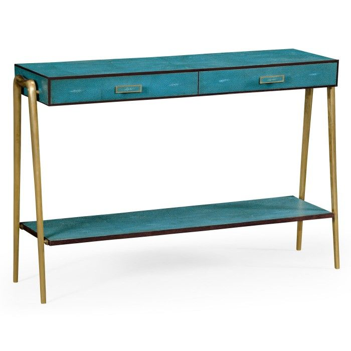 Jonathan Charles Shagreen Console Table Inspired By 1930u0027s Classic Designs