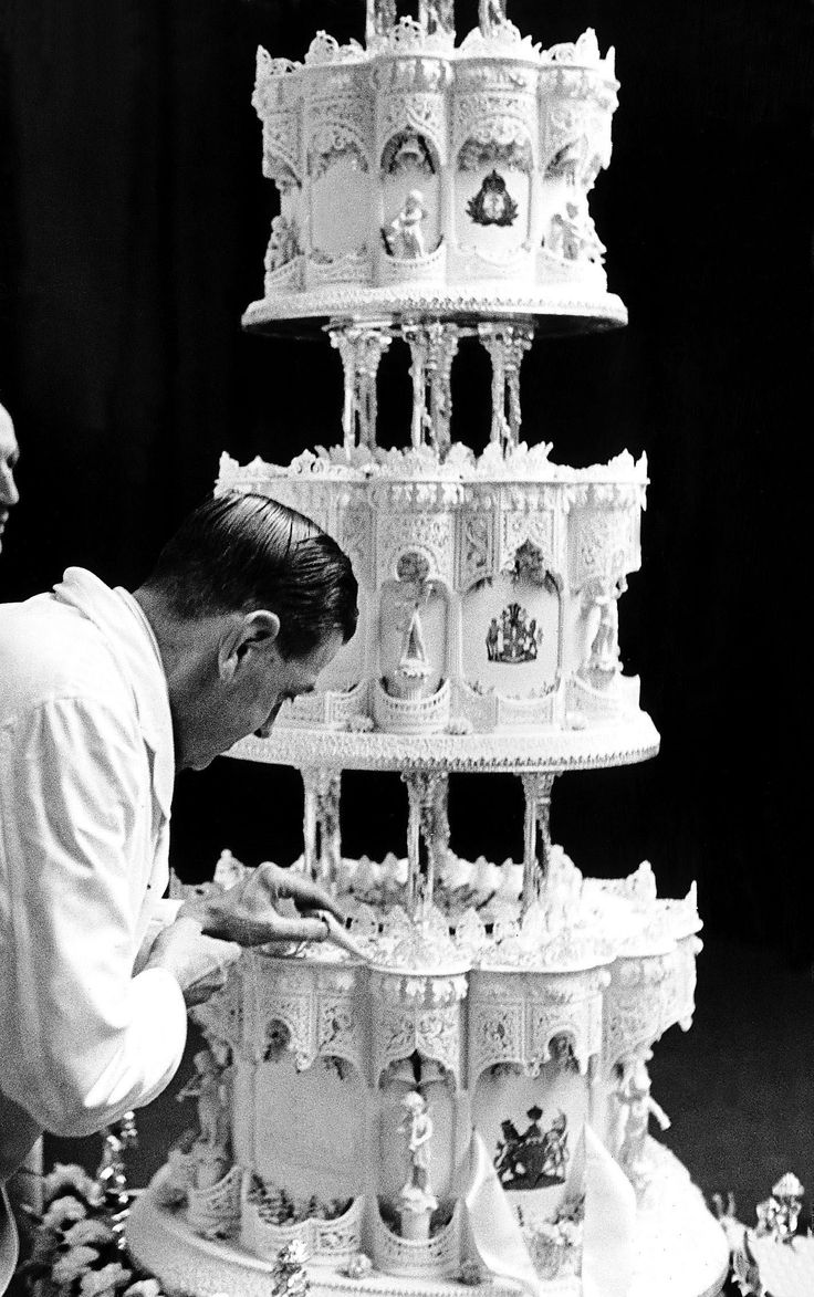 Queen Elizabeth II's wedding cake is up for auction.