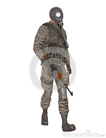 Desert Soldier With Rifle - Download From Over 39 Million High Quality Stock Photos, Images, Vectors. Sign up for FREE today. Image: 64761979