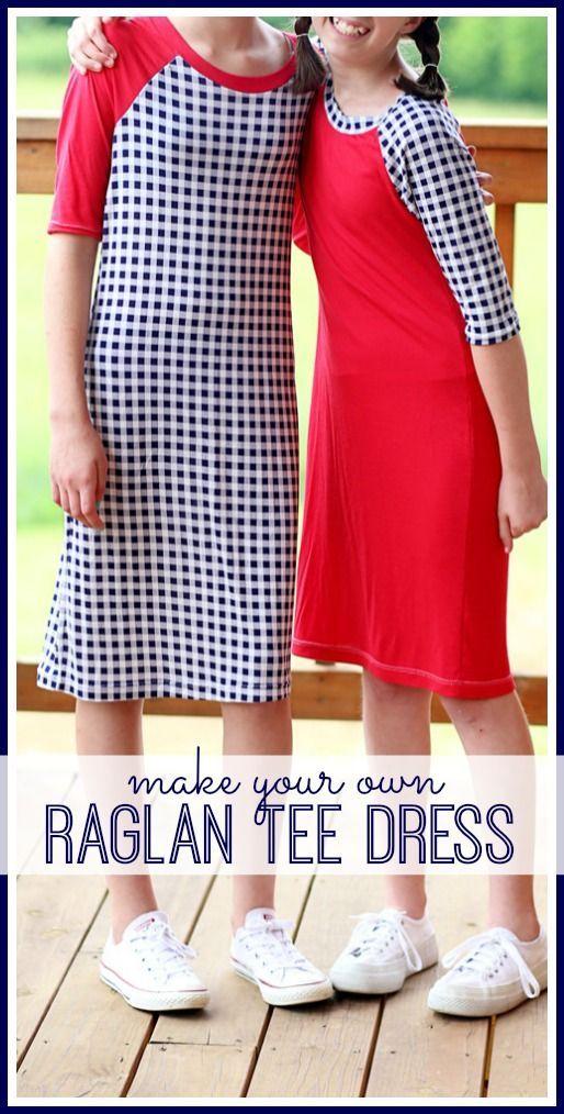 make and sew your own Raglan Baseball Tee Dress - - Sugar Bee Crafts