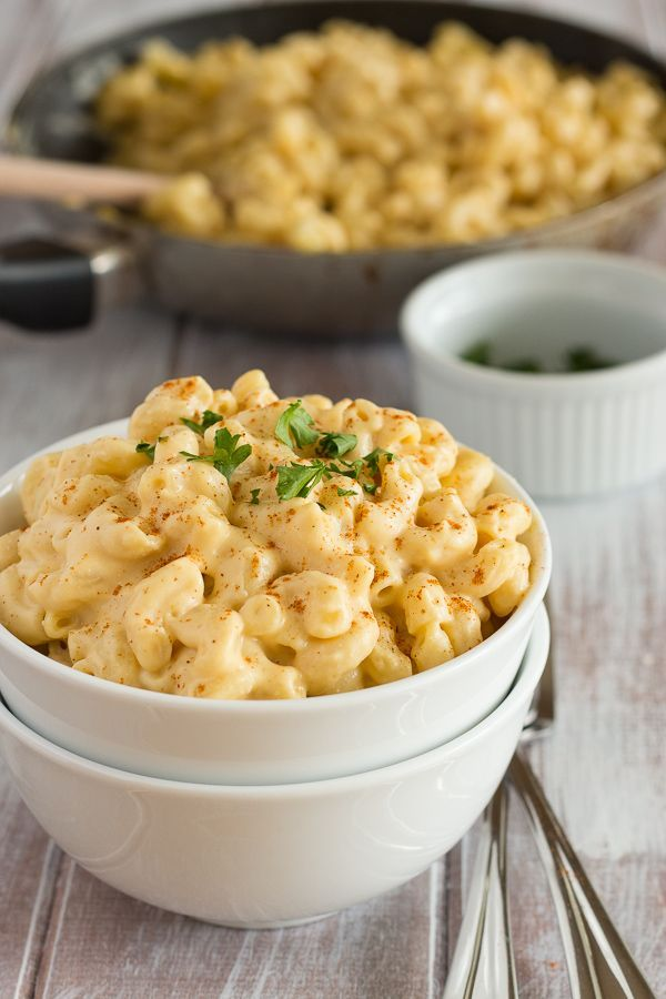 Vegan Mac and Cheese that has been made healthy with wholesome ingredients. I made this dish and it looks just like the picture and tastes just as good!
