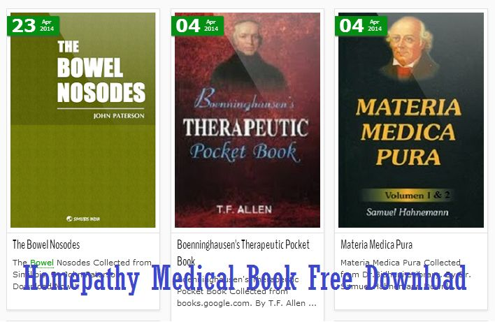 Homeopathy medical books free download | Hpathic