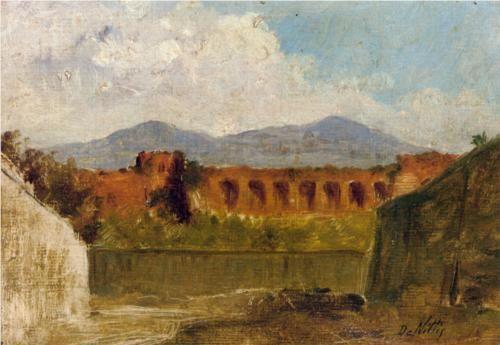 A Roman Aqueduct by Giuseppe de Nittis.