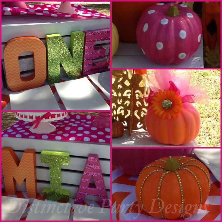 Little Pumpkin - Mia's 1st Birthday Party | CatchMyParty.com