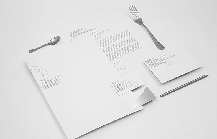Logo and stationery for Alberto Senties Catering designed by Anagrama