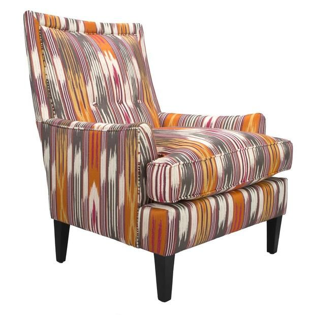 Charming Southwestern High Back Lounge Chair Gallery