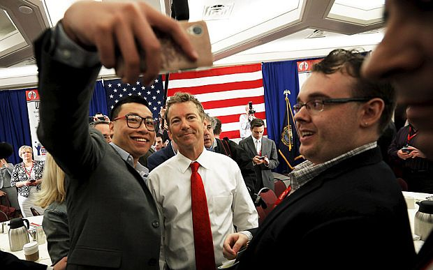 Rand Paul receives standing ovation as he delivers libertarian message to New Hampshire faithful