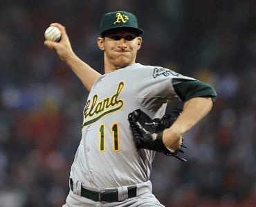 Might have to pick up this A's rookie in my fantasy league: Jarrod Parker.