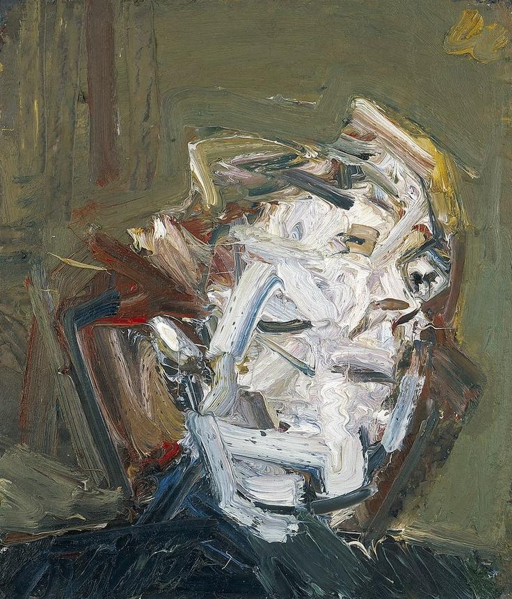 Frank Auerbach  HEAD OF J.Y.M., 1974  oil on board  28 x 24 inches  71.1 x 61 cm