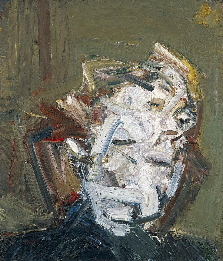 Frank Auerbach HEAD OF J.Y.M., 1974 oil on board 28 x 24 inches 71.1 x 61 cm www.artexperiencenyc.com