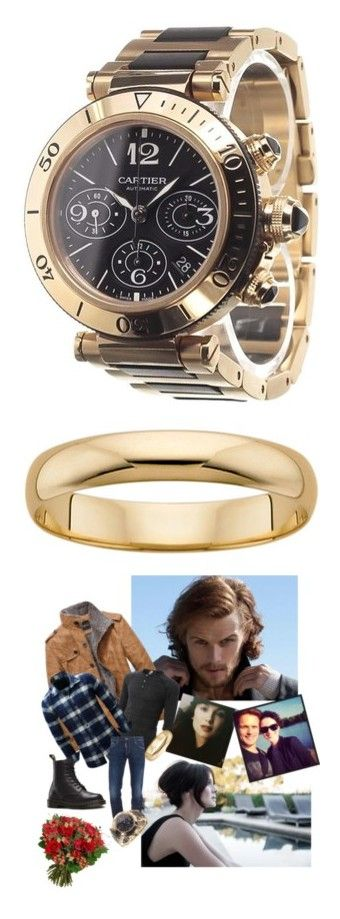 """Porter's Closet"" by bboles3984 ❤ liked on Polyvore featuring men's fashion, men's jewelry, men's watches, gold, cartier mens watches, mens diamond bezel watches, men's rings, yellow, mens watches jewelry and mens gold wedding rings"