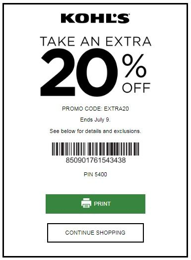 KOHL'S YES PASS COUPON: SAVE 20% OFF SITEWIDE JULY 2017
