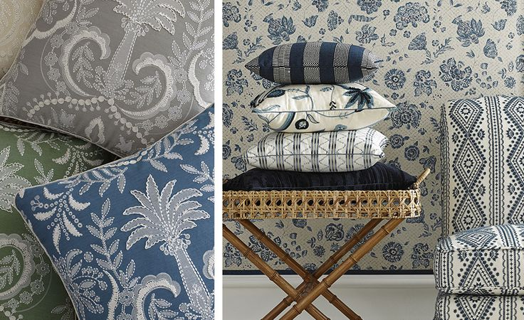 2564 best fabric and wallpaper images on pinterest for Oscar de la renta wallpaper