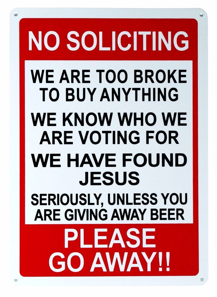 "No Soliciting Sign 14""x10"" Humor Man Cave Novelty Signs #Mysignboards #Modern"