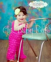 Chic Baby Rose Petti Jumper - Great birthday outfit or photo prop. Handmade in the USA.