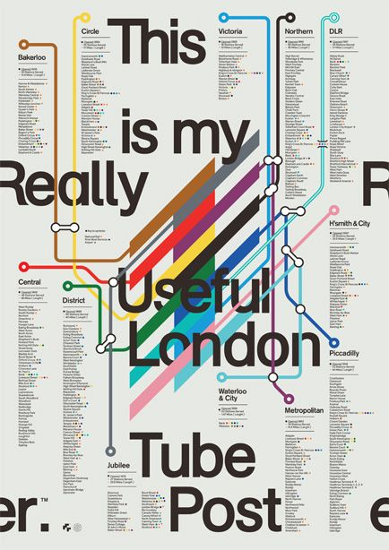London Tube Poster | S/O/T/O. Walk through tutorial here: http://www.creativebloq.com/typography/column-grid-poster-design-made-neat-and-easy-10122682