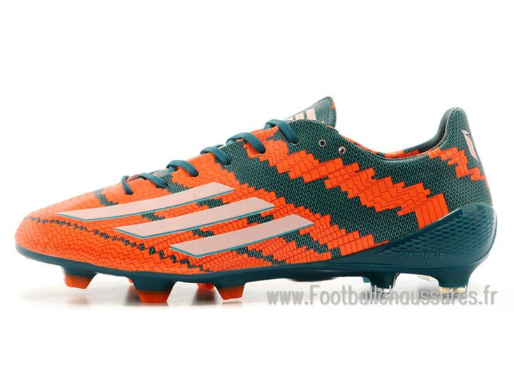 Adidas Homme Chaussures F50 adizero FG Messi Trx FG Orange/Vert -  1409203051 - Boutique