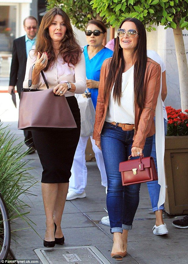 Back in action! Kyle Richards and Lisa Vanderpump were spotted enjoying lunch together in ...