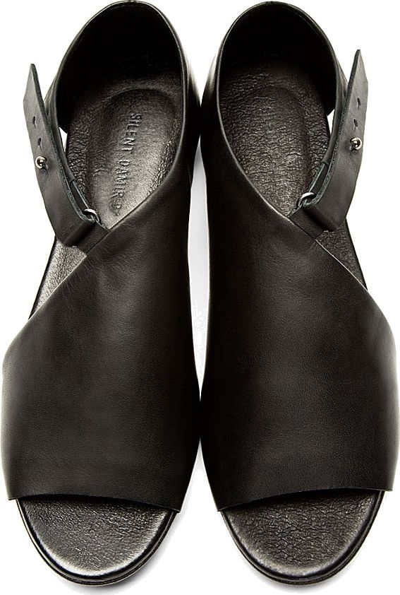 Silent by Damir Doma - Black Leather Siri Sandals | SSENSE