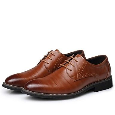 Men's Shoes Office & Career/Casual Leather Oxfords Black/Blue/Brown/Yellow 2016 – $44.99