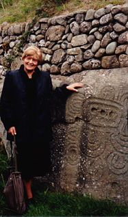 Gimbutas gained fame — and notoriety — with her last three books: The Goddesses and Gods of Old Europe (1974); The Language of the Goddess (1989), which inspired an exhibition in Wiesbaden, 1993/94; and her final book, The Civilization of the Goddess (1991), which based on her documented archeological findings presented an overview of her conclusions about Neolithic cultures across Europe: housing patterns, social structure, art, religion, and the nature of literacy.