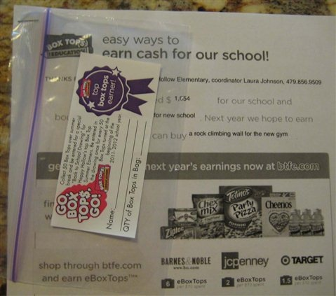 Box Tops for Education - Summer