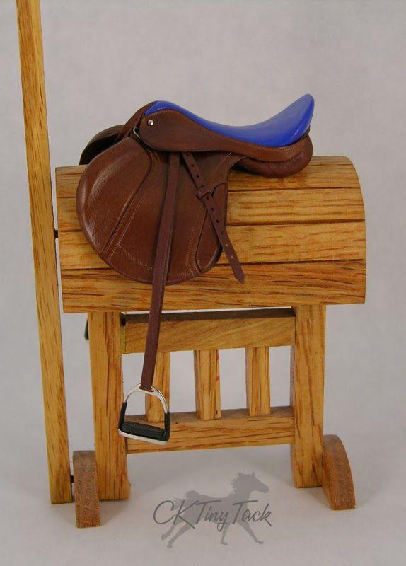 CK Tiny Tack: Australian Tan & Blue Eventing Saddle