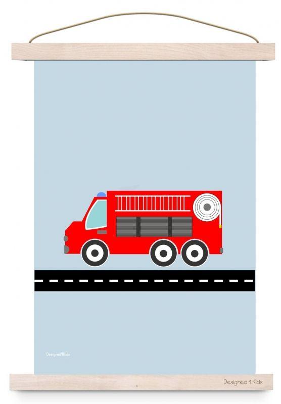 Kinderposter Brandweerwagen A3
