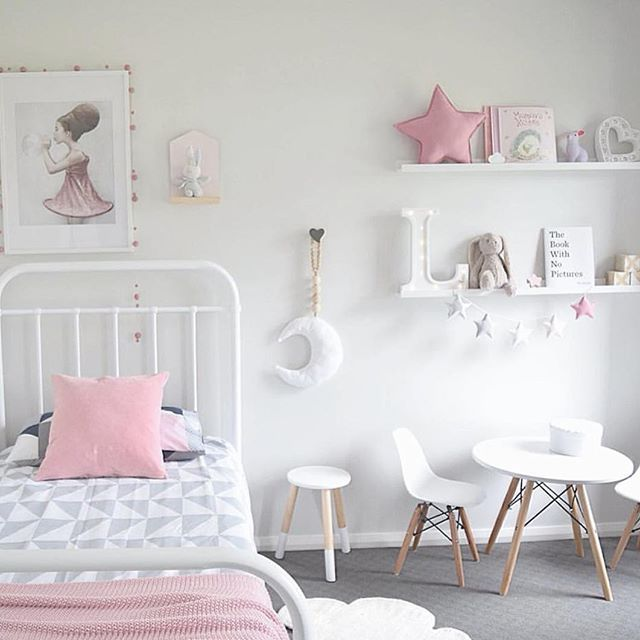 Look At This Amazing Little Girls Bedroom By Featuring The New Jasper Quilt Cover In Reverse Kmart White Stool The Table And Chairs And The Bunny