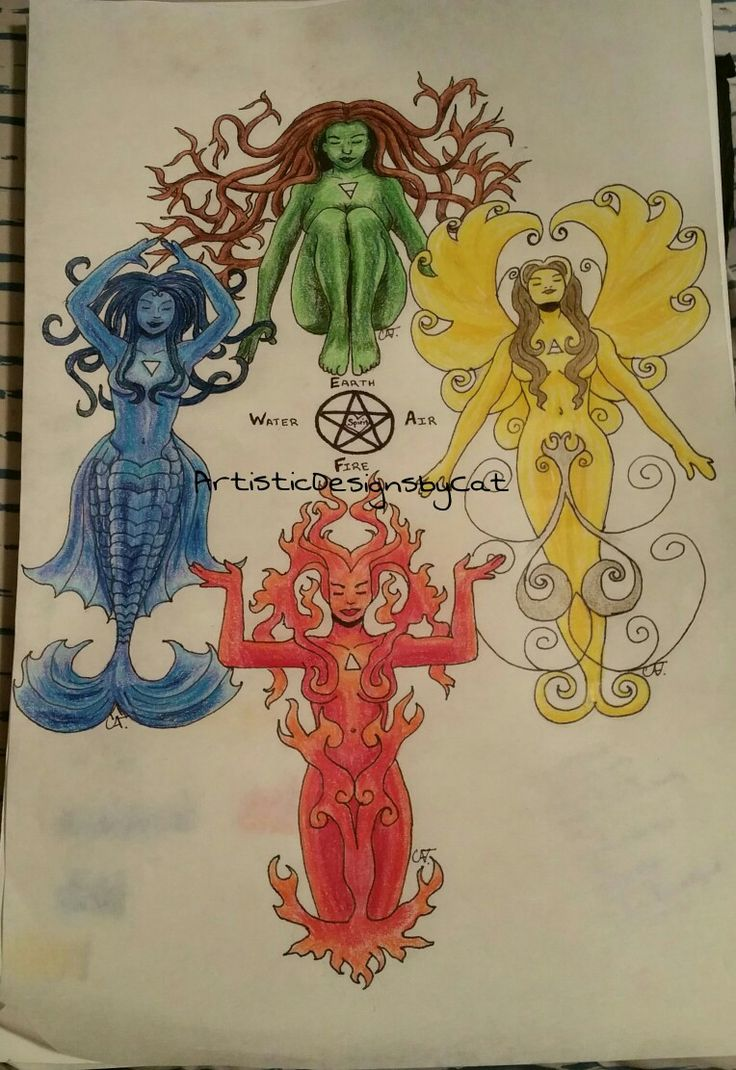 #Elements #Earth #Air #Fire #Water #altar #wiccan #tattoo #pagan