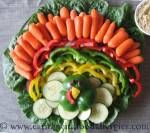 Instructions for making a turkey veggie platter - a perfect allergy free appetizer for Thanksgiving!