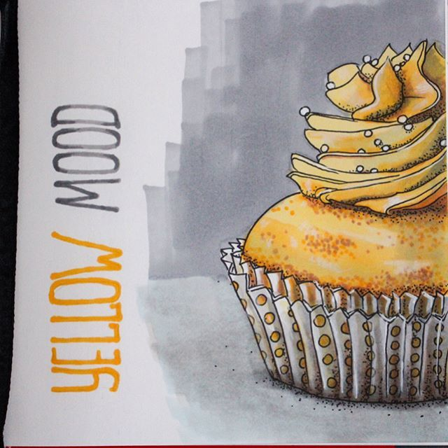 Let's draw something sweet and #yellow #cupcake