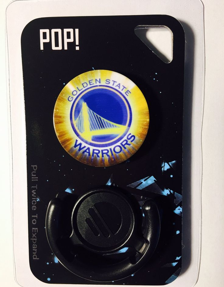 Golden State Warriors, Custom Made Pop Sockets (Limited Edition) with Advanced 3M Adhesives and Free Clip Mount Holder Included