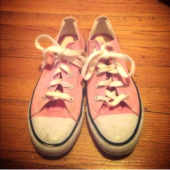 Pink airwalk sneakers Cute pink airwalk sneakers! Look identical to converse. In good condition besides a few minor dirt stains shown in pictures. Airwalk Shoes Sneakers