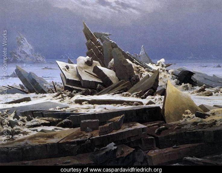 Caspar David Friedrich: Caspar David Friedrich, Oil On Canvas, Ice, Das Eismeer, 19Th Century, Caspardavidfriedrich, Covers Art, Painting, The Sea
