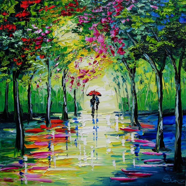 beata sasik: Happy Couple, Rainbows Colors, Art Ideas, Vibrant Colors, Art I Like, Photo, Painting, Bright Colors, Artists Chao